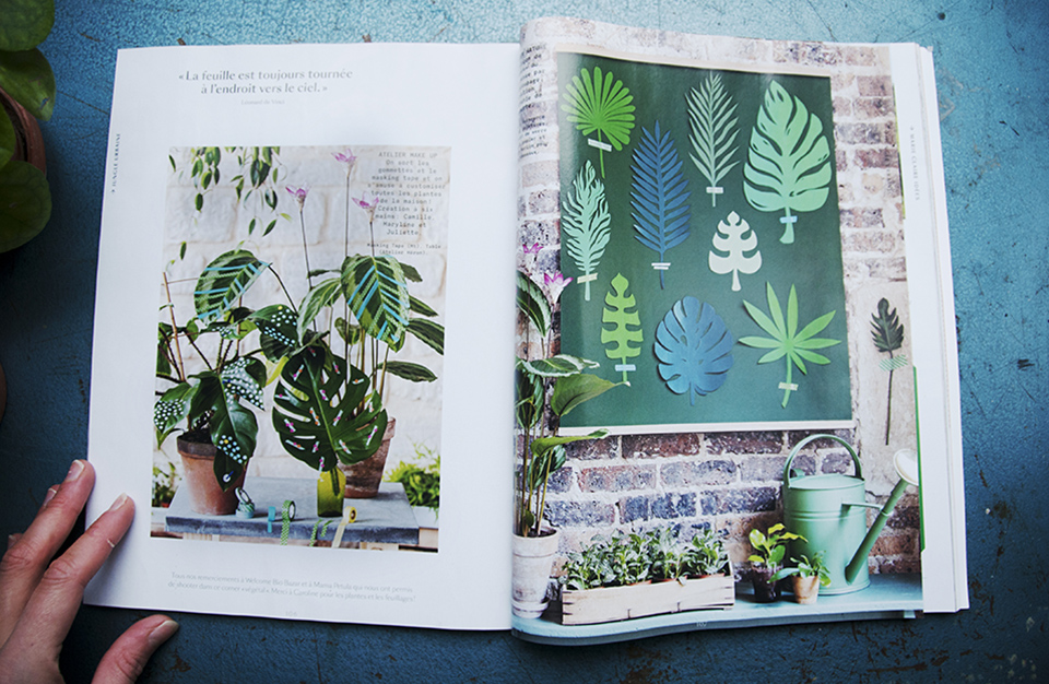 Stylisme photo Jungle Urbaine, chez Mama Petula pour Marie Claire Idées