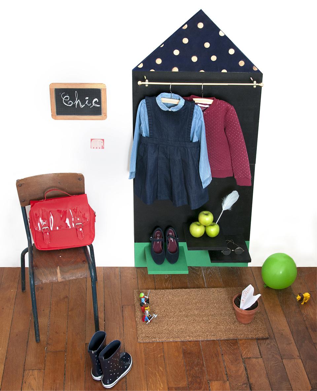 Création DIY Enfants ! Penderie murale pour enfants, tuto www.18h39.fr