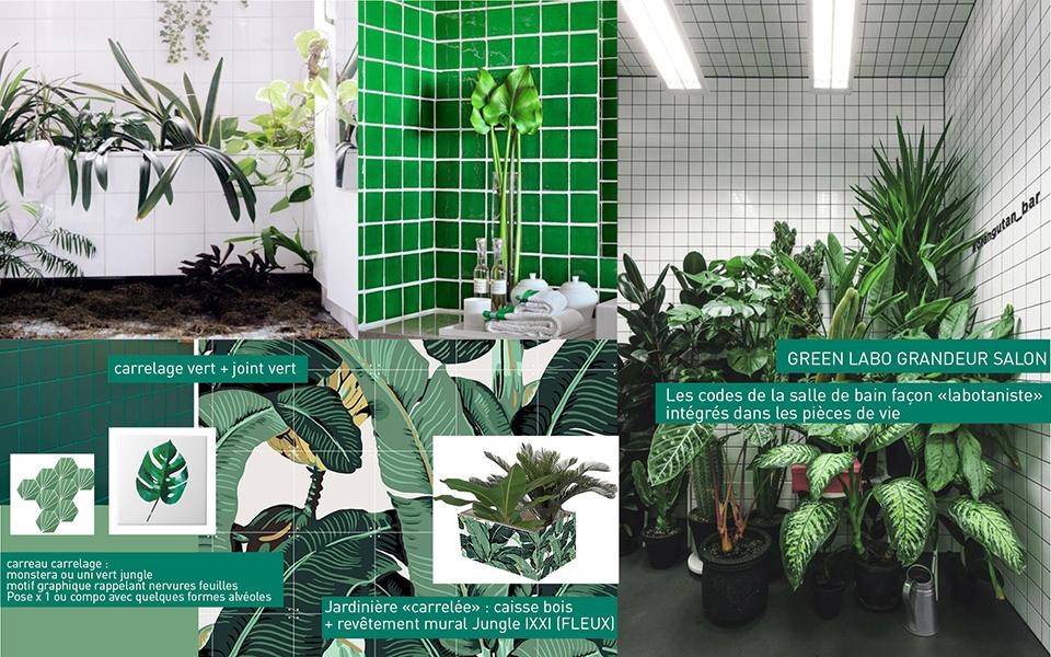 Tendances et inspirations déco, propositions de créations DIY déco Jungle urbaine, pour le magazine Marie Claire Idées n°122, sujet de Camille Soulayrol.