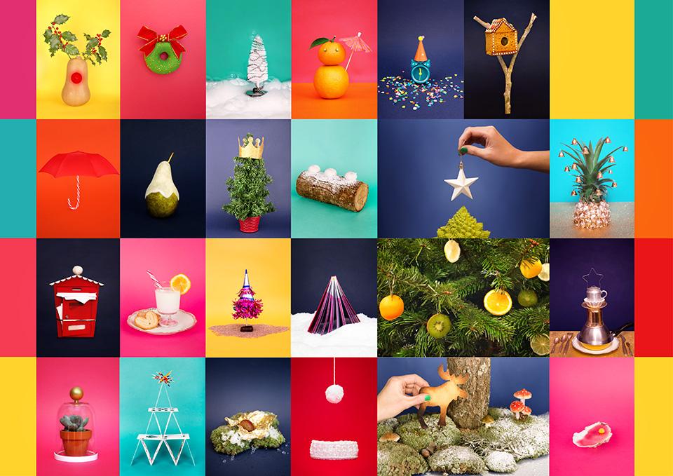 Set design d'un calendrier de l'Avent en images