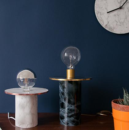 CASTORAMA : DIY LAMPE MISS MARBLE