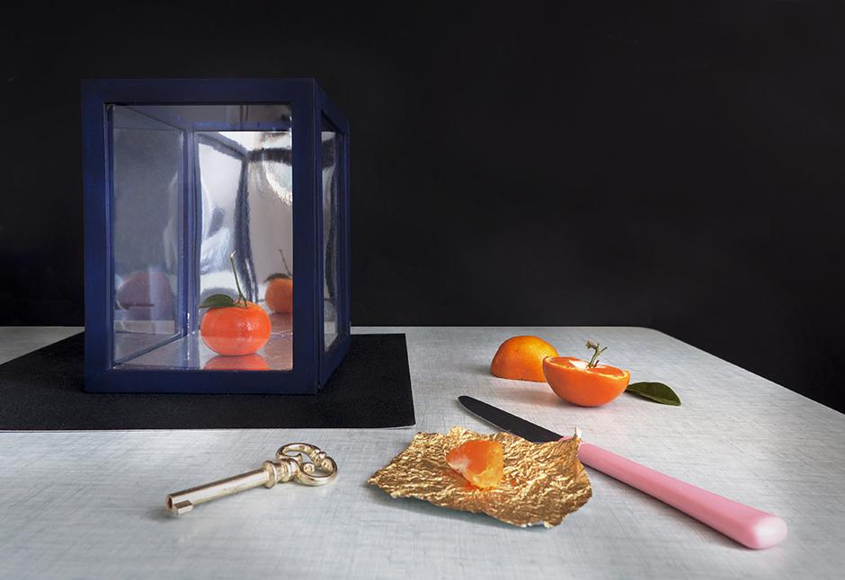 Stylisme nature morte, set design autour d'une vitrine DIY Cabinet de curiosité pour Castorama -set designer à Paris