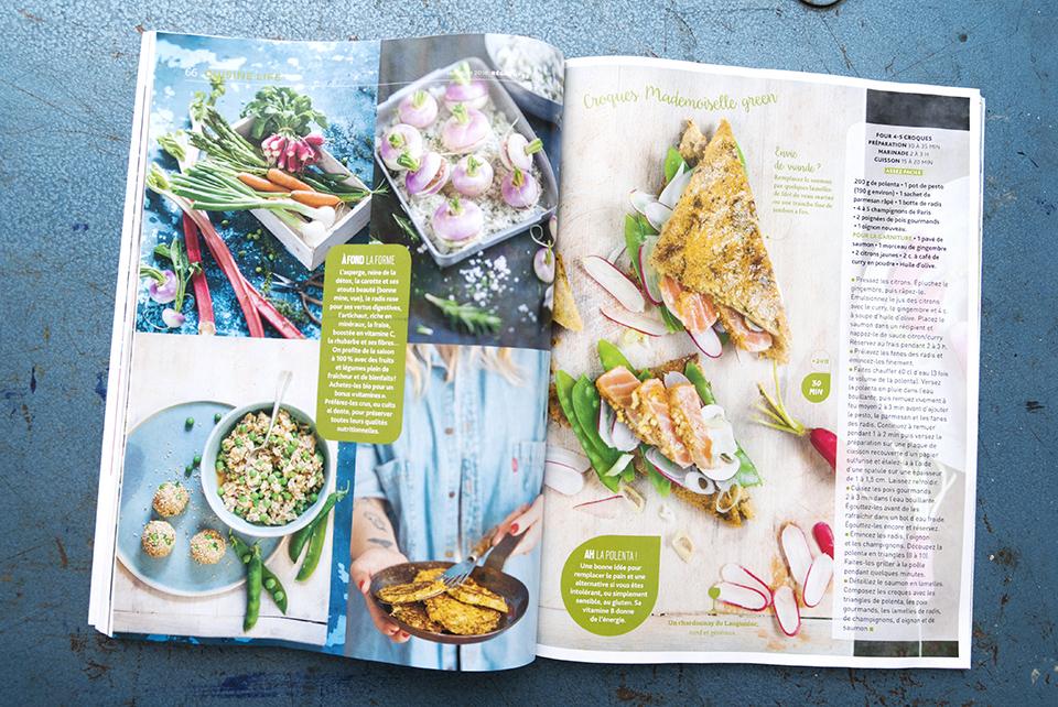 Stylisme photo culinaire légumes, shooting de recettes de légumes nouvelle génération pour le magazine Régal