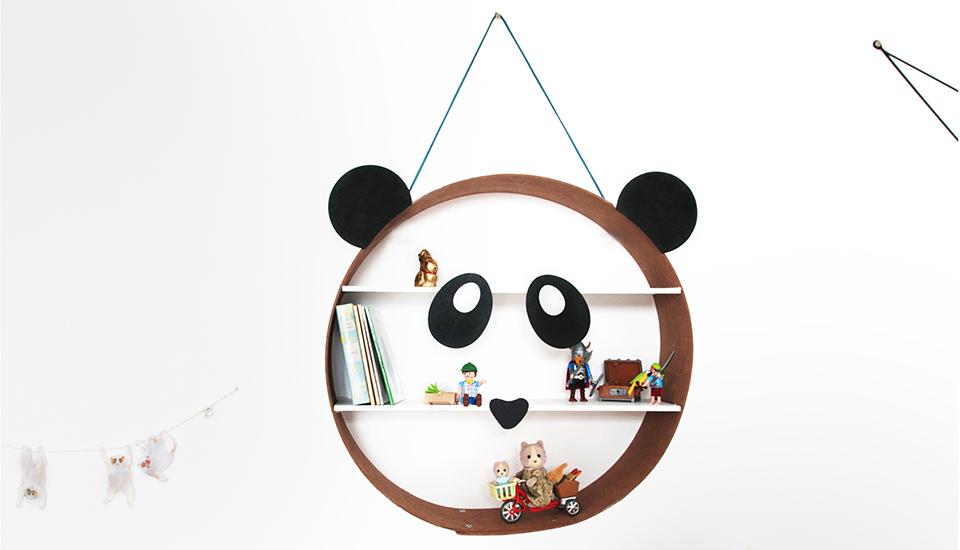 Création tuto DIY Étagère Panda. Étagère murale ronde pour déco de chambre d'enfant. 18h39 I Castorama