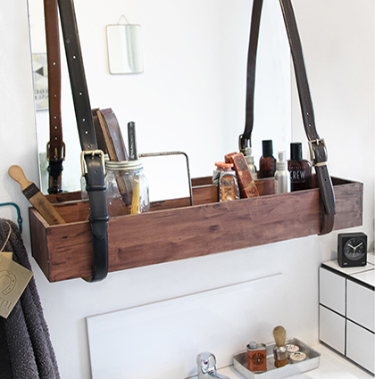 CASTORAMA : DIY ETAGERE AT THE BARBER